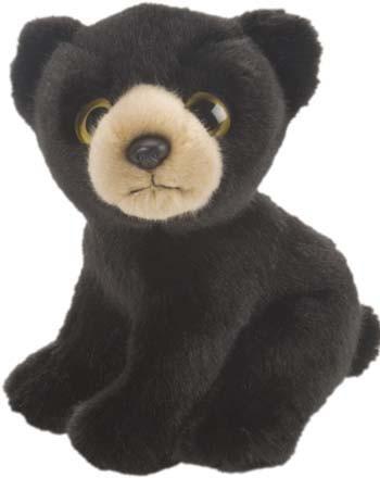 Pluche zwarte beer knuffels 18 cm