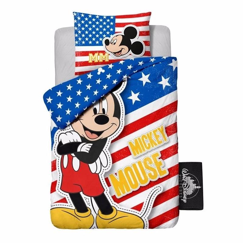 Afbeelding van 1 persoons dekbedovertrek van Mickey Mouse USA