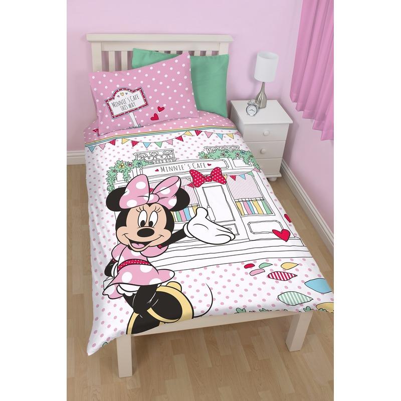 Afbeelding van 1 persoons dekbedovertrek van Minnie Mouse cafe