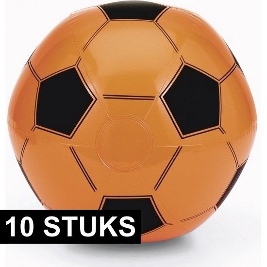 Afbeelding van 10x Oranje fan voetbal strandbal
