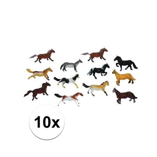 Afbeelding van 10x speel paardjes gemaakt van plastic 6 cm