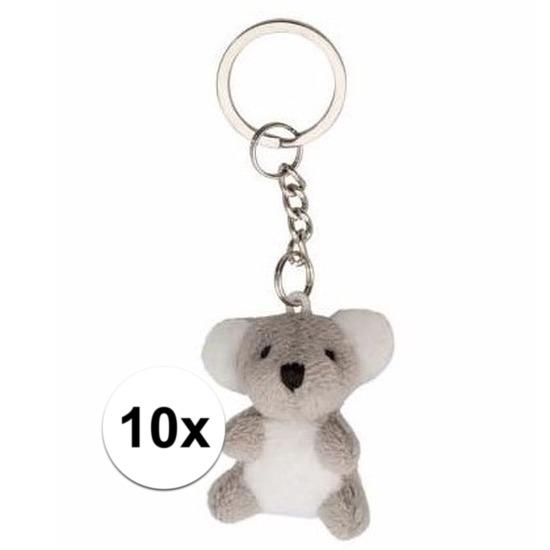 Afbeelding van 10x stuks tas sleutelhangers koala beertje 6 cm
