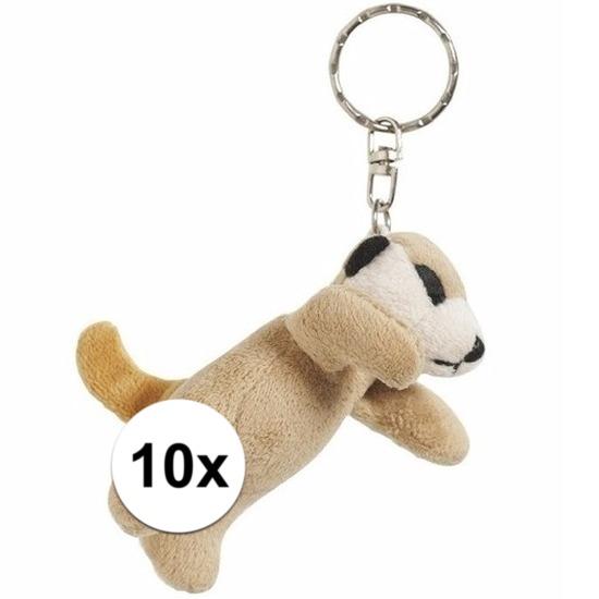 Afbeelding van 10x Tas sleutelhanger stokstaartje 6 cm