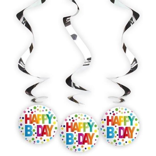 Afbeelding van 12x Happy Birthday rotorspiralen