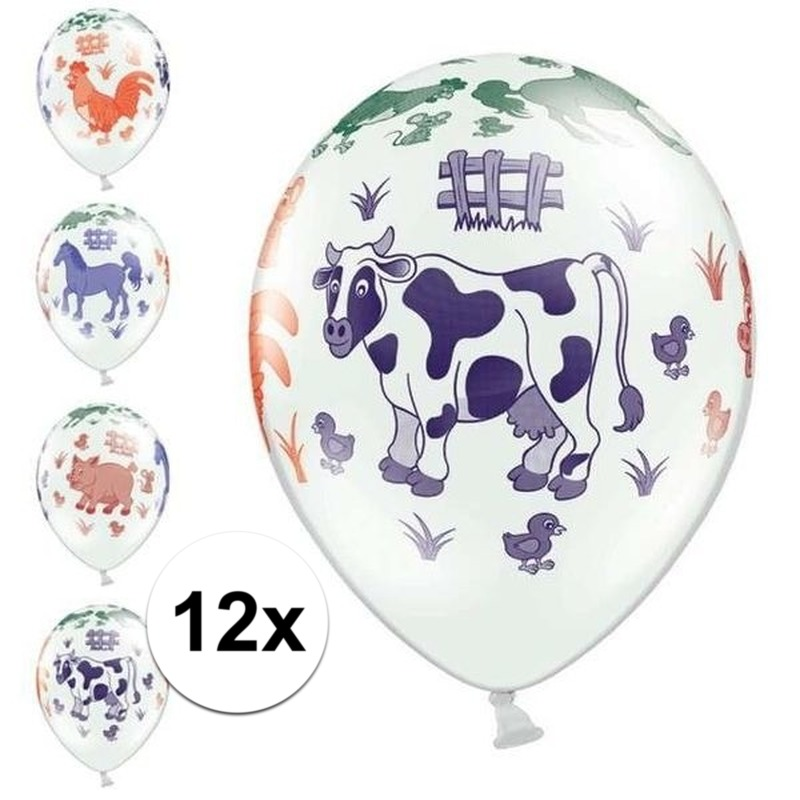 Afbeelding van 12x Kinderboerderij ballonnen