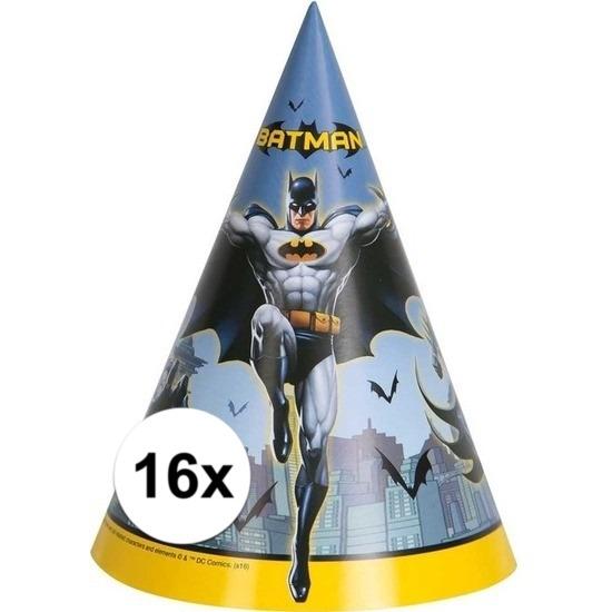 Afbeelding van 16 stuks Party hoedjes Batman