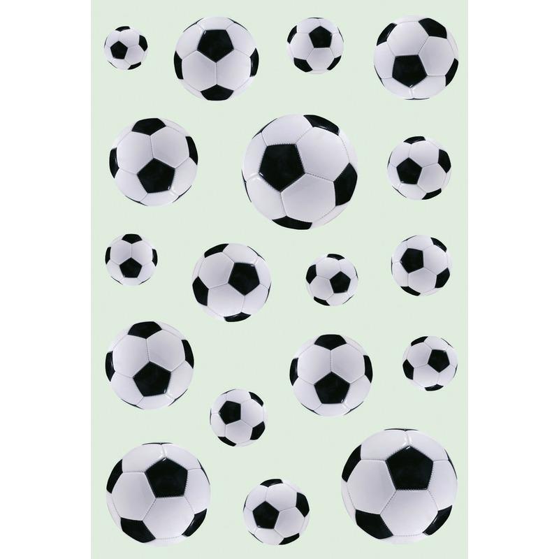 Afbeelding van 162x Zwart/witte voetbal stickertjes voor kinderen