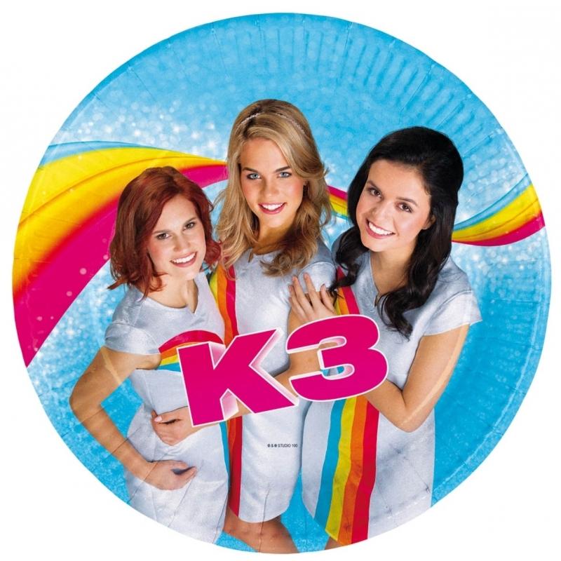 Afbeelding van 16x Feest bordjes verjaardag K3