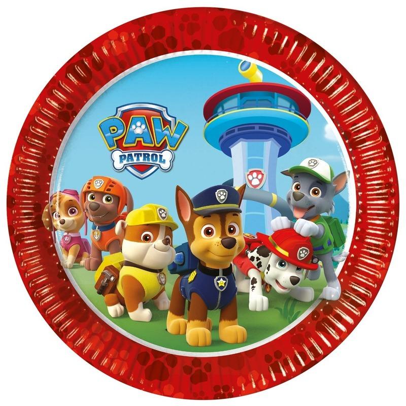 Afbeelding van 16x Kinderfeest Paw Patrol bordjes
