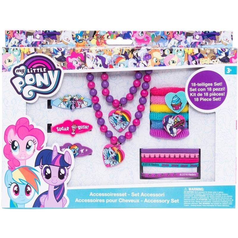18x My Little Pony elastiekjes-armbanden-kettingen voor meisjes