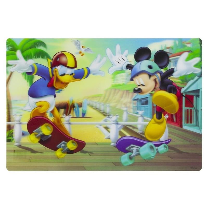 Afbeelding van 1x Disney placemat Mickey en Donald skateboard