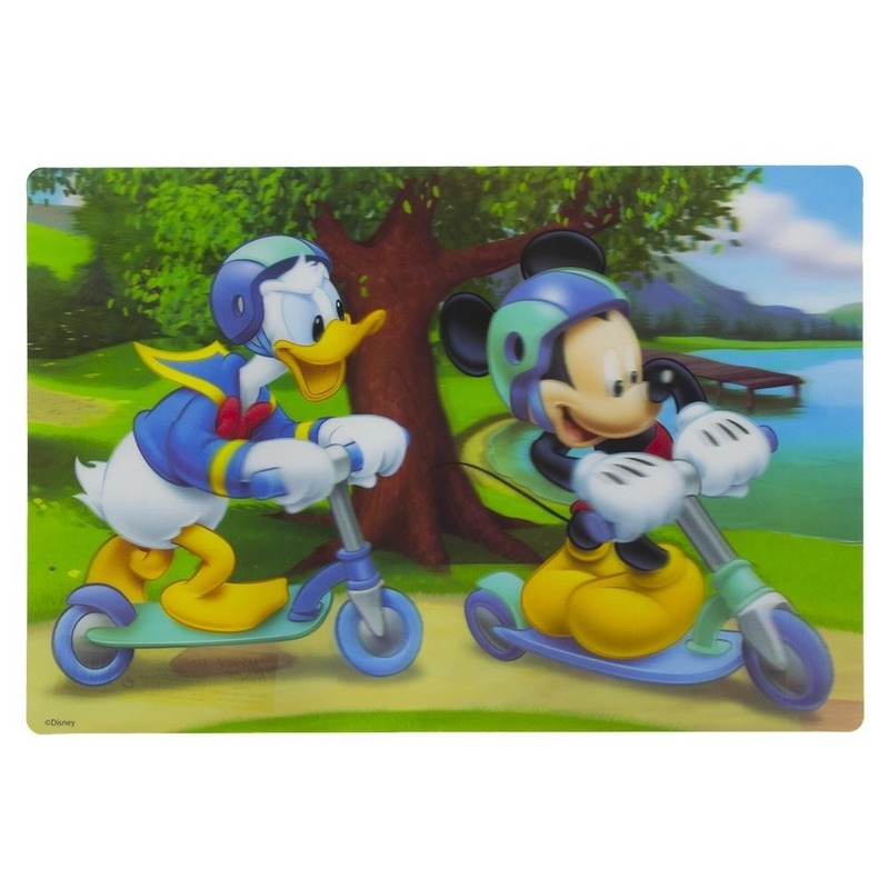 Afbeelding van 1x Disney placemat Mickey en Donald steppen