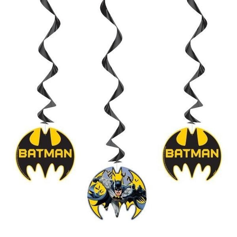 Afbeelding van 3x Batman thema rotorspiralen versiering