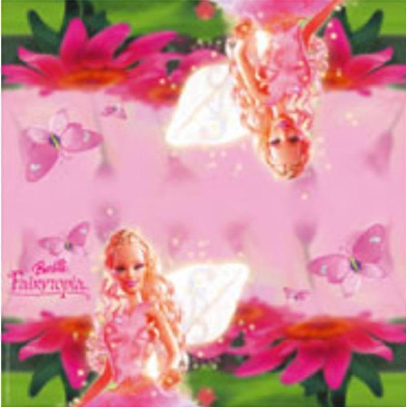 Afbeelding van 40x Papieren servetjes roze Barbie thema feestartikelen 33 x 33 cm