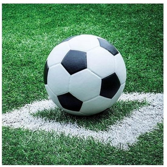 Afbeelding van 40x Papieren servetjes voetbal print 33 x 33 cm