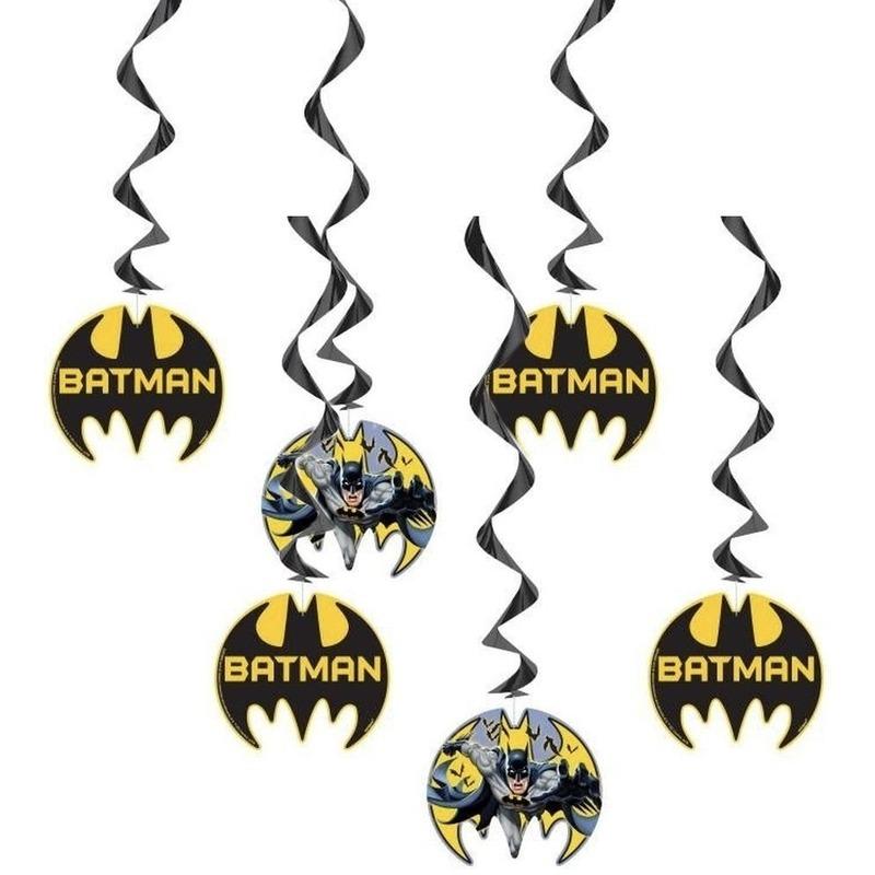 Afbeelding van 6x Batman thema rotorspiralen versiering