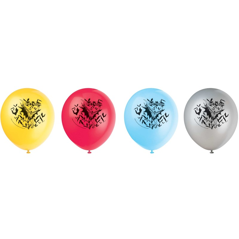Afbeelding van 8 stuks Batmanballonnen 30 cm