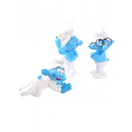 Babysmurf, ijdelsmurf en brilsmurf 13 cm