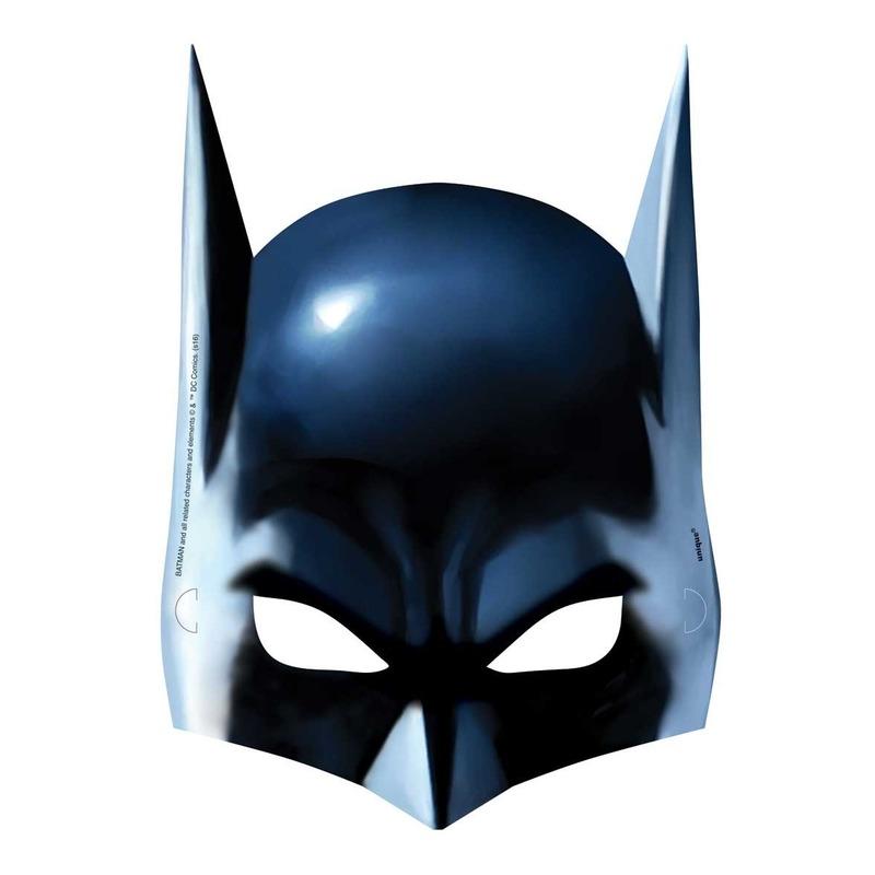 Afbeelding van Batman gezichtsmasker 8 stuks