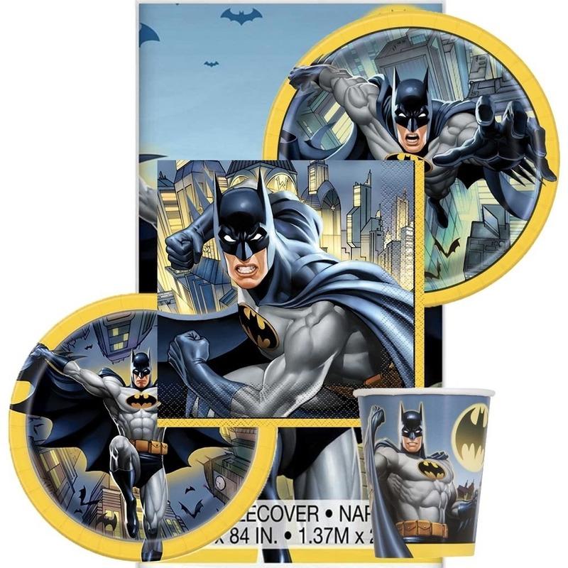 Afbeelding van Batman Hip Hooray themafeest tafelversiering pakket 8 personen