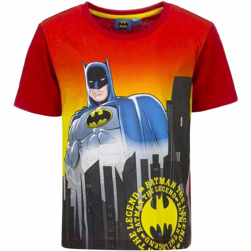 Afbeelding van Batman T-shirt rode mouw