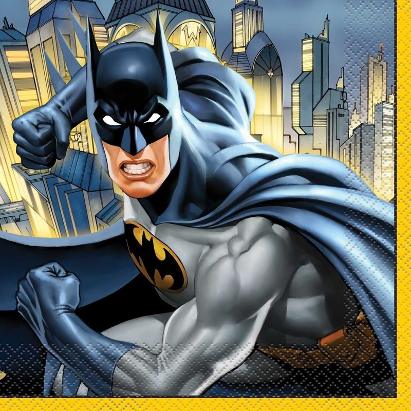 Afbeelding van Batman thema lunchservetten 16 stuks