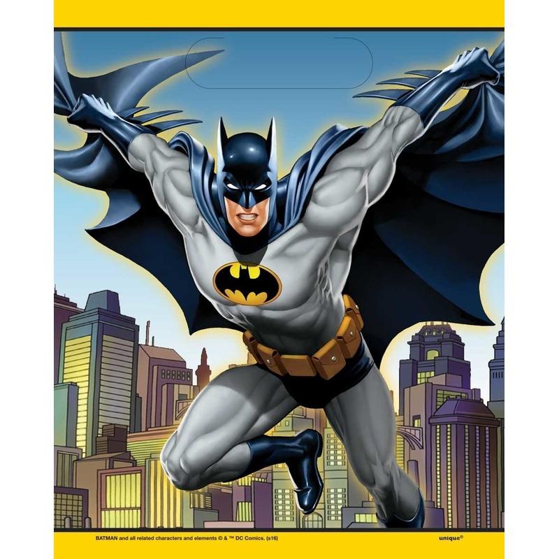 Afbeelding van Batman verjaardag kado zakjes 8 stuks