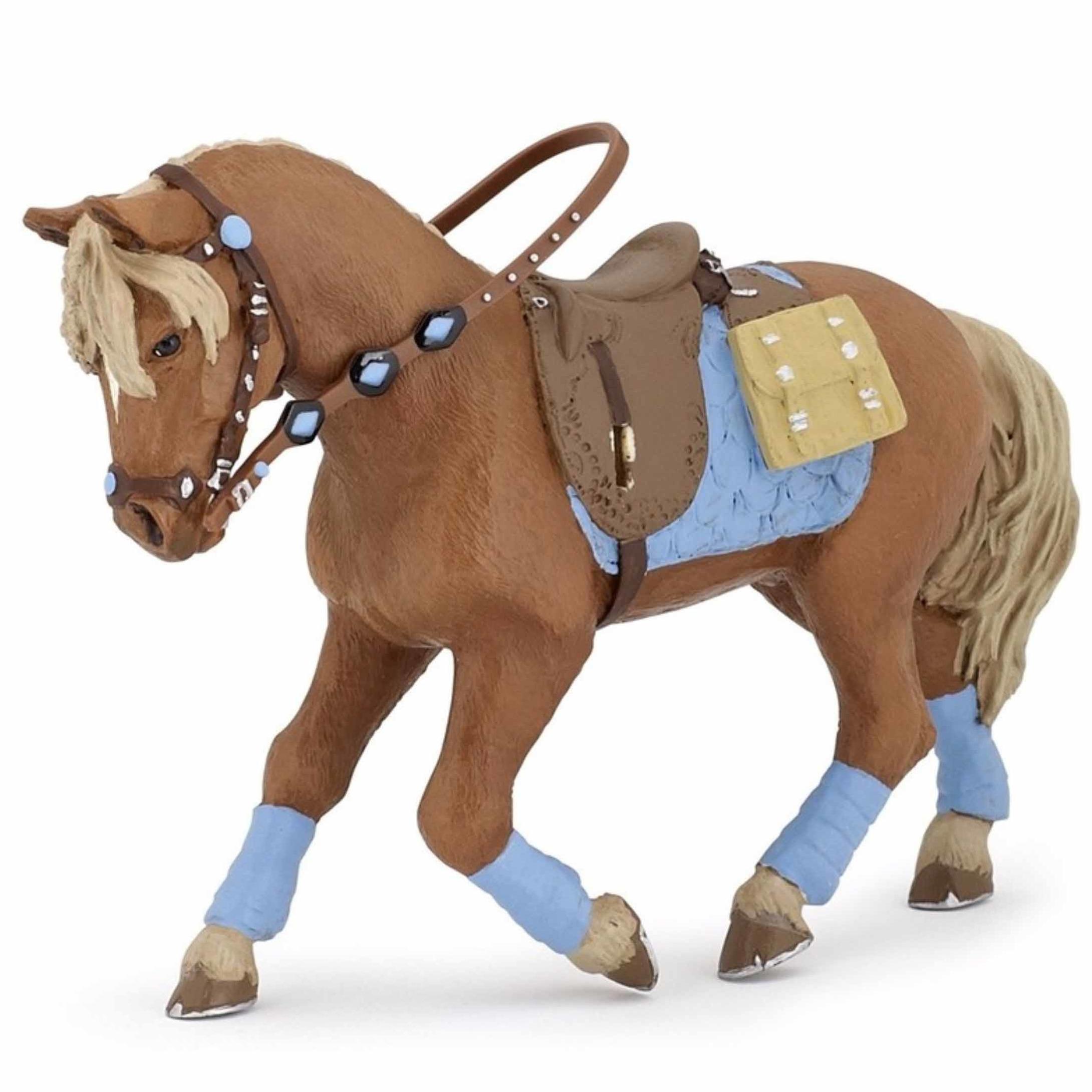 Decoratie jonge ruiter paard plastic 12 cm