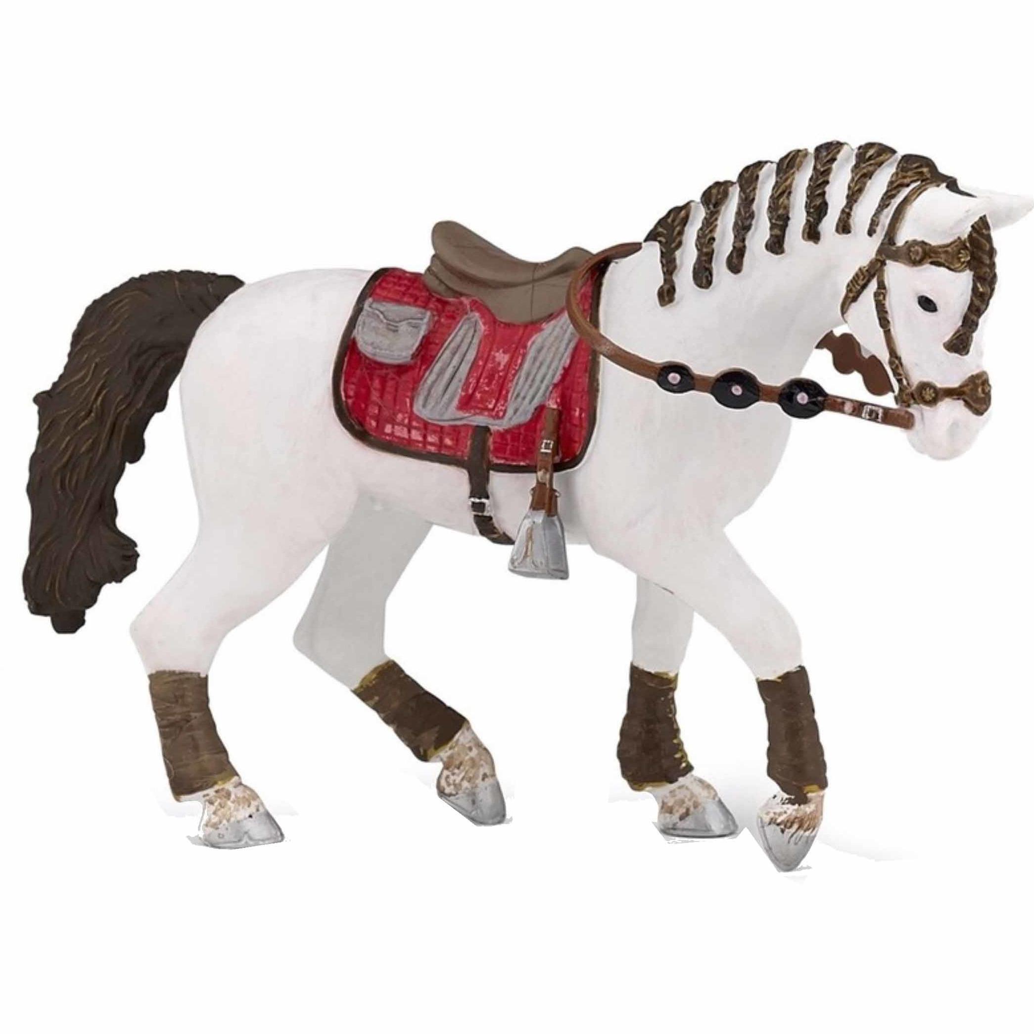 Decoratie trendy paarden plastic 14.5 cm