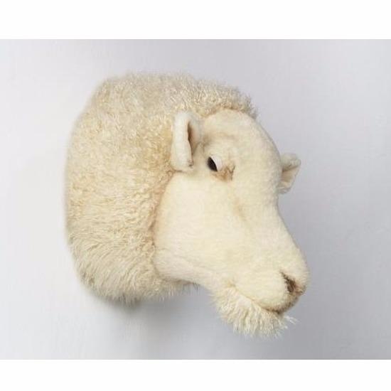 Afbeelding van Dierenkop schaap voor aan de muur