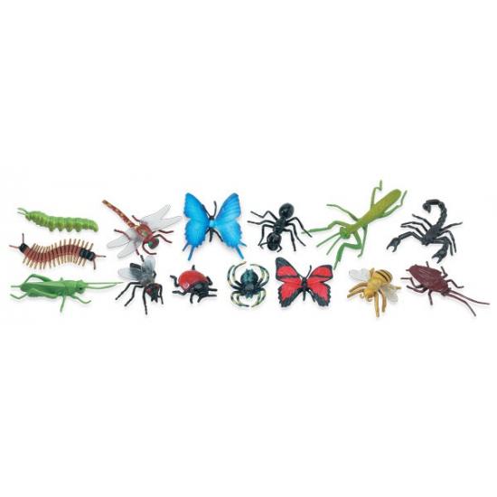 Diverse speelgoed insecten van plastic