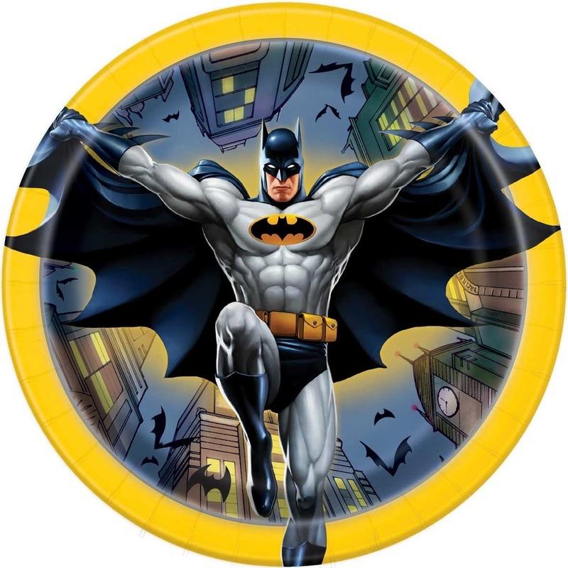 Afbeelding van Eetbordjes 17cm Batman 8 stuks