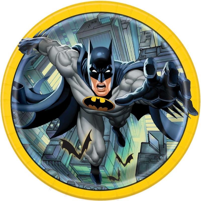 Afbeelding van Eetbordjes 23cm Batman 8 stuks