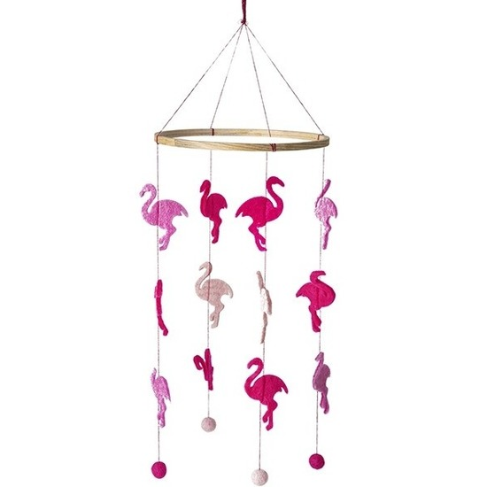 Flamingo thema baby mobiel-boxmobiel 45 cm kinderkamer decoratie