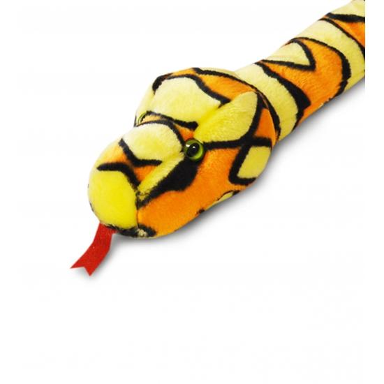 Grote oranje pluche slang 200 cm
