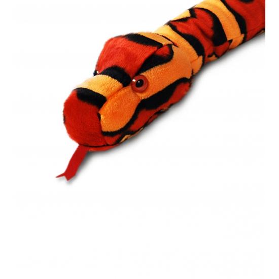 Grote rode pluche slang 200 cm