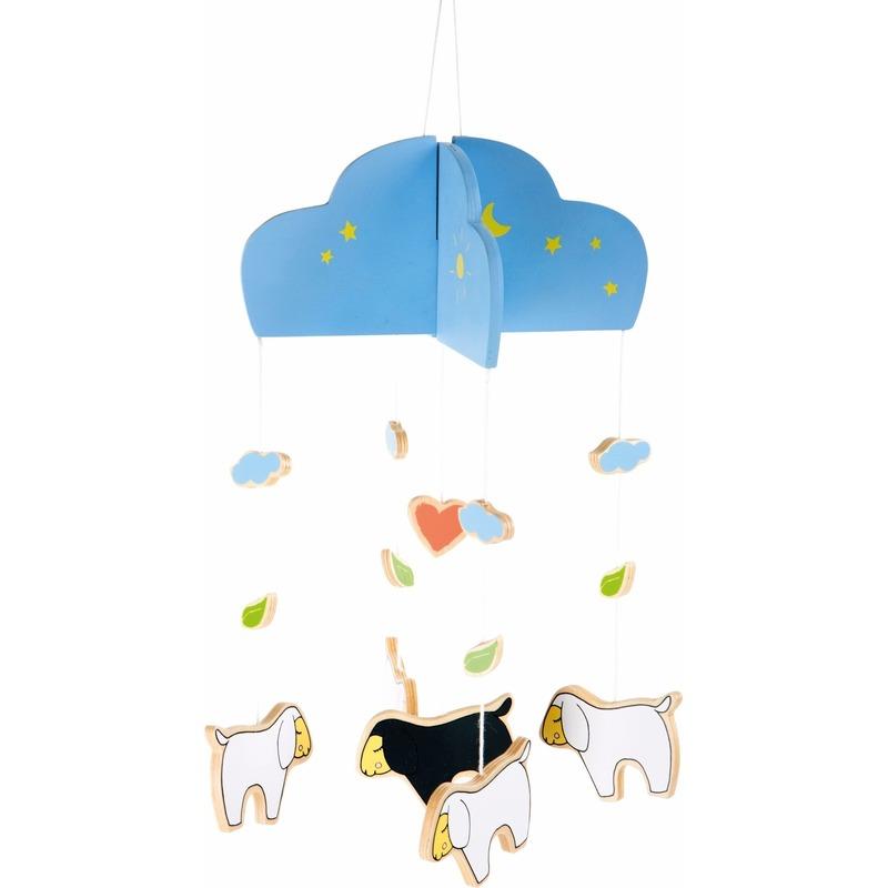 Hangdecoratie mobiel schaap-lam 25 cm