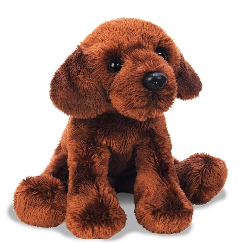 Hondel knuffels bruine Labrador 12 cm