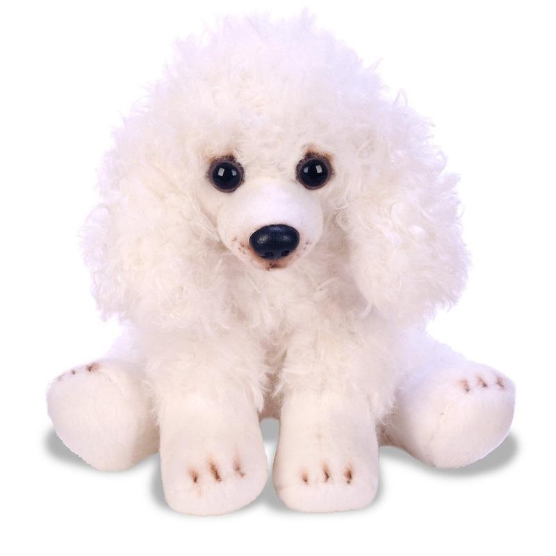 Hondel knuffels witte Poedel 12 cm