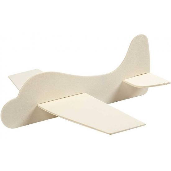 Afbeelding van Houten speelgoed vliegtuig 21.5x25.5 cm