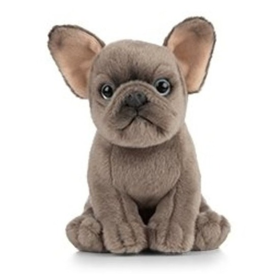 Knuffel Franse Bulldog hond grijs 15 cm knuffels kopen