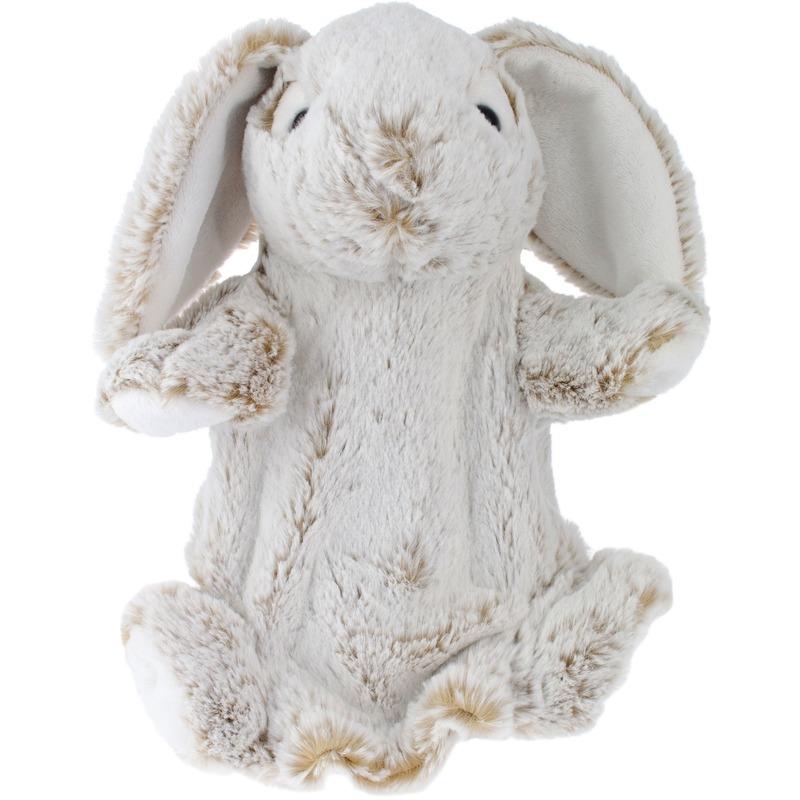 Knuffel handpop konijn-haas bruin 25 cm knuffels kopen
