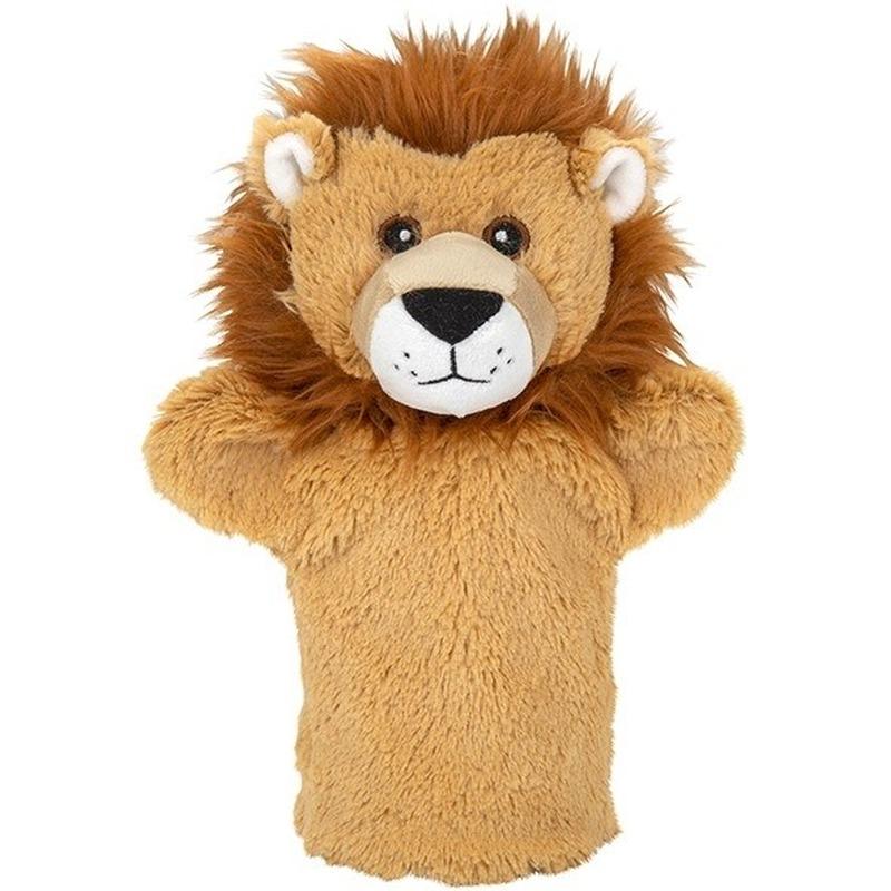 Knuffel handpop leeuw bruin 24 cm knuffels kopen