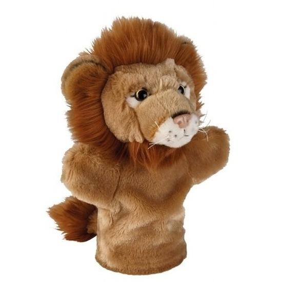 Knuffel handpop leeuw bruin 26 cm knuffels kopen