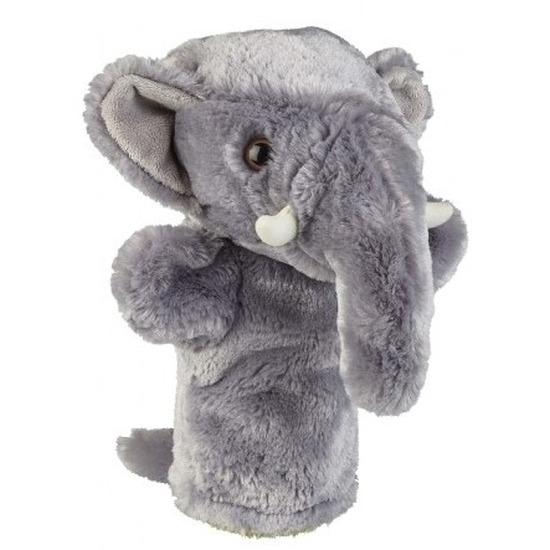 Knuffel handpop olifant grijs 26 cm knuffels kopen