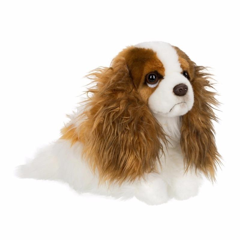 Afbeelding van Knuffel hondje Cavalier King Charles Spaniel leeuw 26 cm