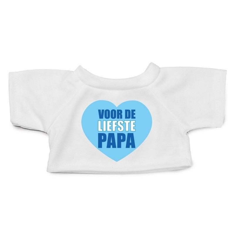 Knuffel kleding Liefste Papa hartje t-shirt wit M voor Clothies