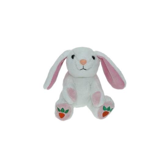 Knuffel konijn-haas wit 14 cm knuffels kopen