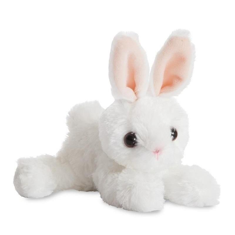 Knuffel konijn-haas wit 20 cm knuffels kopen