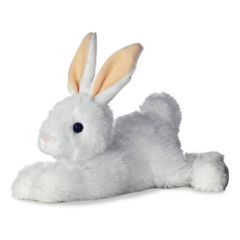 Knuffel konijn-haas wit 30 cm knuffels kopen